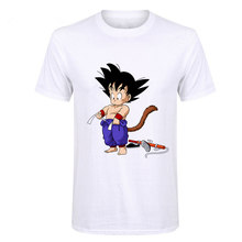 Showtly Dragon Ball Z Goku Men's T-shirt high quality gym fashion casual Harajuku brand clothing funny oversized t shirts anime(China)