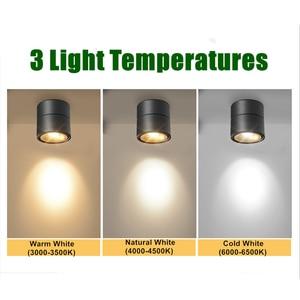 Image 5 - [DBF]360 Grad Drehbare Oberfläche Montiert Decke Downlight 7W 10W 12W 15W LED Decke spot Licht für Küche wohnzimmer Decor