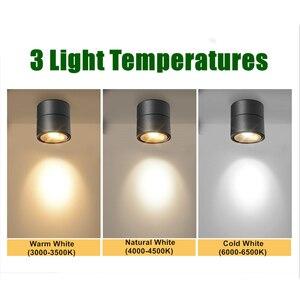 Image 5 - [DBF]360 תואר Rotatable צמודי תקרת Downlight 7W 10W 12W 15W LED תקרה ספוט אור מטבח סלון חדר דקור