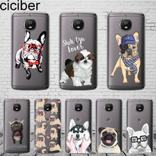 ciciber Cute Animal Pug Dog For Motorola Moto C Z2 Z3 ONE P30 G4 G5 G5S G6 E3 E4 E5 Play Plus Power M X4 Phone Case Soft TPU(China)