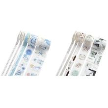 Masking-Tape Washi Tapel 10pcs Paper-Stickers Craft Scrapbooking DIY Japanese Gold Chinese-Style