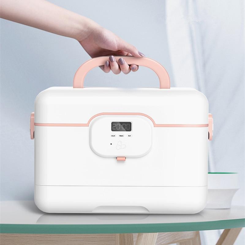 Large-capacity Multi-layer Home Smart Medicine Box Portable Emergency Storage First Aid Kit Alarm Clock To Remind Take Medicine