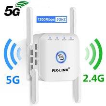 5 Ghz bezprzewodowy wzmacniacz sygnału WiFi Wi Fi wzmacniacz 2.4G 5G wzmacniacz Wi-Fi 1200 mb/s punkt dostępu 5 ghz sygnał WiFi daleki zasięg Extender