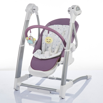 Children's Dining Chair Rocking High Chair Electric Baby Swing Sleepingmultifunction adjustable Highchair 2 in 1 baby rocking chair baby electric rocking chair to appease the cradle bed children s dining chair rocking chair with remote cont