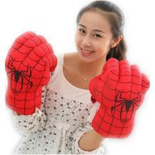 Juguetes de peluche de 30CM de Marvel para niños y adultos, 2 uds., Hulk, Spiderman, Boxer, guantes de boxeo