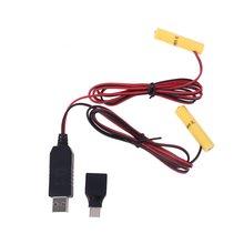 2 в 1 usb или type c к двойному блоку питания lr03 aaa кабель