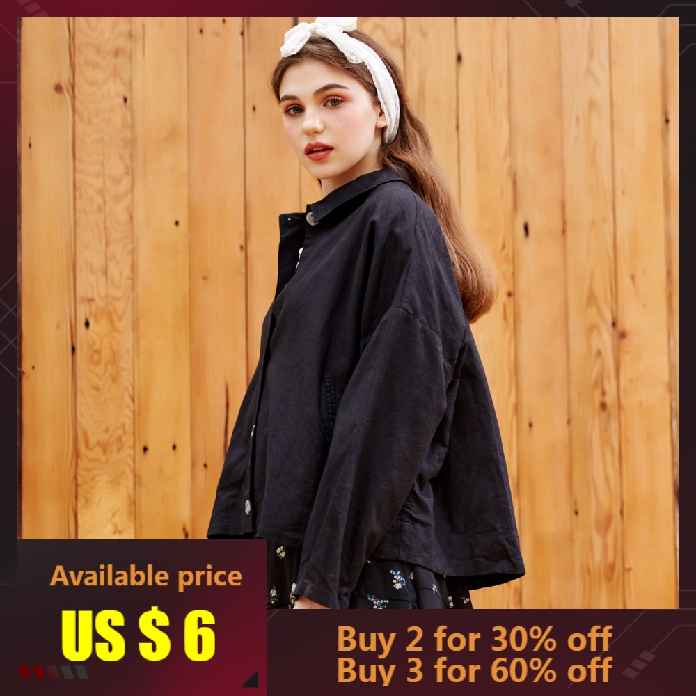Metersbonwe Fashion Windbreaker Short   Jacket   Women Cotton Linen Coats Casual   Basic     Jackets   Loose Women's   Jacket   Female Outwear