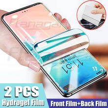 2Pcs Screen Protector สำหรับ Samsung Galaxy S9 S8 S10 S20 PLUS S10e Hydrogel ฟิล์มสำหรับ Samsung Note 8 9 s20 Ultra Screen Protector(China)