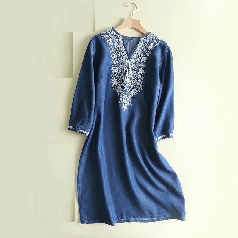 Indian Dress For Women Ethnic Blouses Embroidery Vestido Indiano India Clothing Women Suties Pakistani Kurta Kurti Dresses Denin