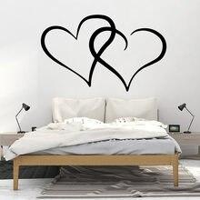 Moda coração adesivo à prova dwaterproof água vinil papel de parede decoração para casa sala de estar empresa escola escritório decoração mural cartaz