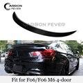Новый задний багажник  спойлер для багажника  крылышки из настоящего углеродного волокна  спойлер для багажника BMW 6 серии F06 640i 650i  глянцевый...