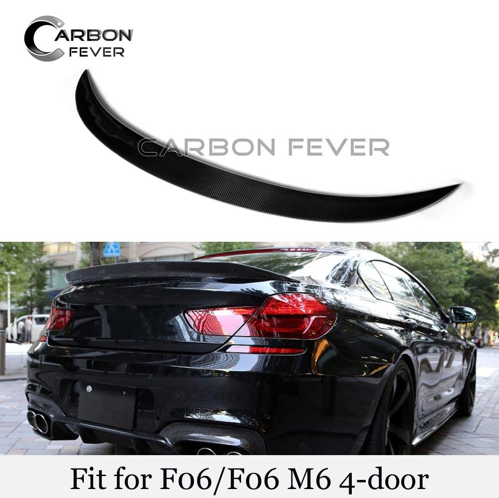 New Rear Trunk Boot Spoiler Wings Real Carbon Fiber Trunk Spoiler Lid For BMW 6 Series F06 640i 650i Gloss Black Spoiler|Spoilers & Wings|   - title=