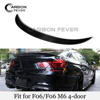 New Rear Trunk Boot Spoiler Wings Real Carbon Fiber Trunk Spoiler Lid For BMW 6 Series F06 640i 650i Gloss Black Spoiler|Spoilers & Wings|   -