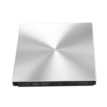 USB 3.0 Bluray Player DVD/BD-ROM CD/DVD RW Burner Writer Play External DVD Drive Portable for Windows 10/MAC OS