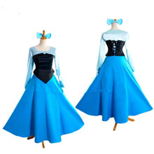 HISTOYE Fairy Tale The Little Mermaid Costume Princess Cosplay Clothing for Women Halloween Party