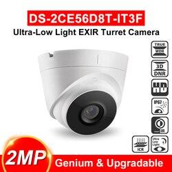 DS-2CE56D8T-IT3F 2MP bardzo słabe oświetlenie EXIR wieży kamera telewizji przemysłowej 60m IR IP67 turbo z kamery HD TVI