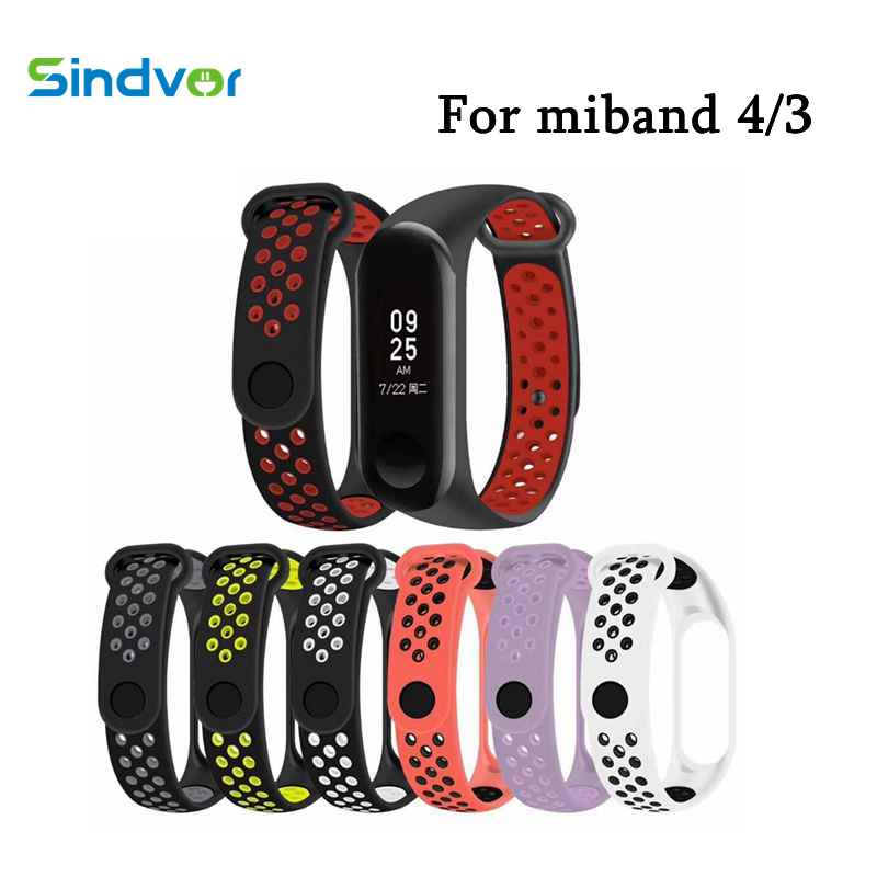 Sport Mi Band 4 Strap Wrist for Xiaomi mi band 3 Silicone Bracelet Miband Smart Watch strap