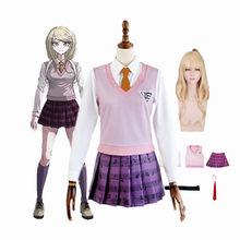 Anime danganronpa kaede akamatsu vestido uniformes conjunto cosplay trajes