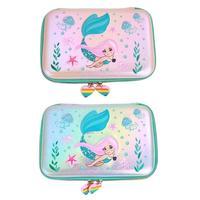 Cute Mermaid Sequins EVA Pencil Stationery Case School Supply Cosmetic Bag