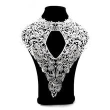 Elegant White Embroidery Lace Corsage Collar Neckline Trim Decor Fabric Evening Dress Appliques DIY Sewing Embellishments