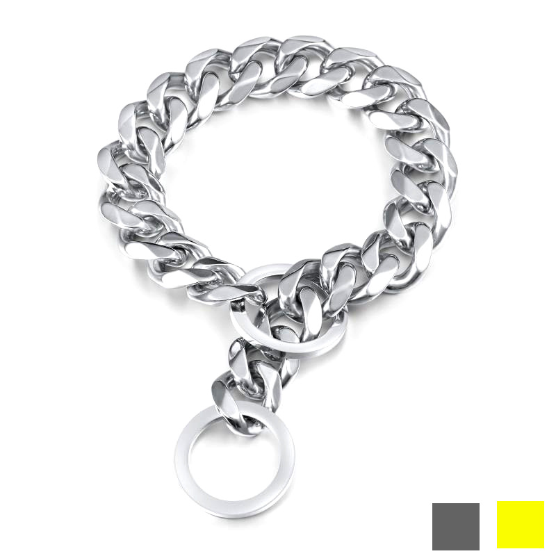 13/15/17/19 Size Pet Supplies Metal Dog Pendant Sub-P Pendant Stainless Steel Gold Neck Ring Supply Of Goods