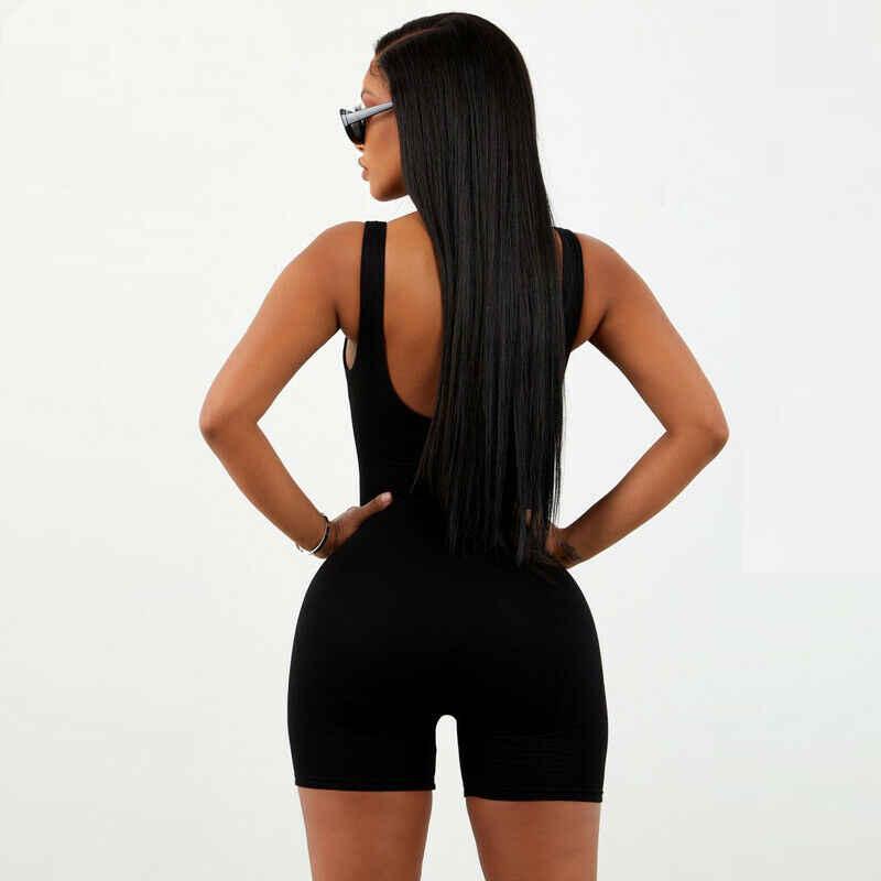 Sexy mujer Casual verano Playsuit Bodycon Party Jumpsuit Romper pantalones cortos sin mangas Fitness Bodycon