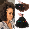 Удлинители волос для вязания крючком Culry, 12 дюймов, синтетические волосы для плетения с эффектом омбре, афро кудрявые косички, черные, жуки, к...