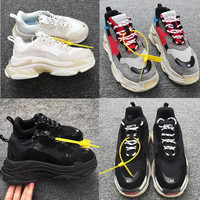 Designer Bl Brand Shoes Triple S Shoes Clear Sole Black Men's Shoes White Bl brand Sneakers Chunky Sneakers Zapatillas Mujer