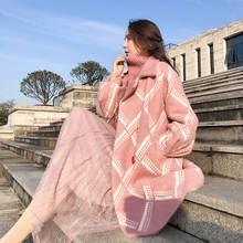 Новая шуба из меха норки женское средней и длинной пальто в
