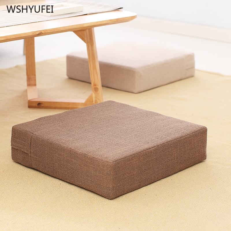 Idyllic Square Futon Cushion On The Floor Removable And Washable Tatami Coffee Table Carpet Lazy Couch Chair Increased Cushion