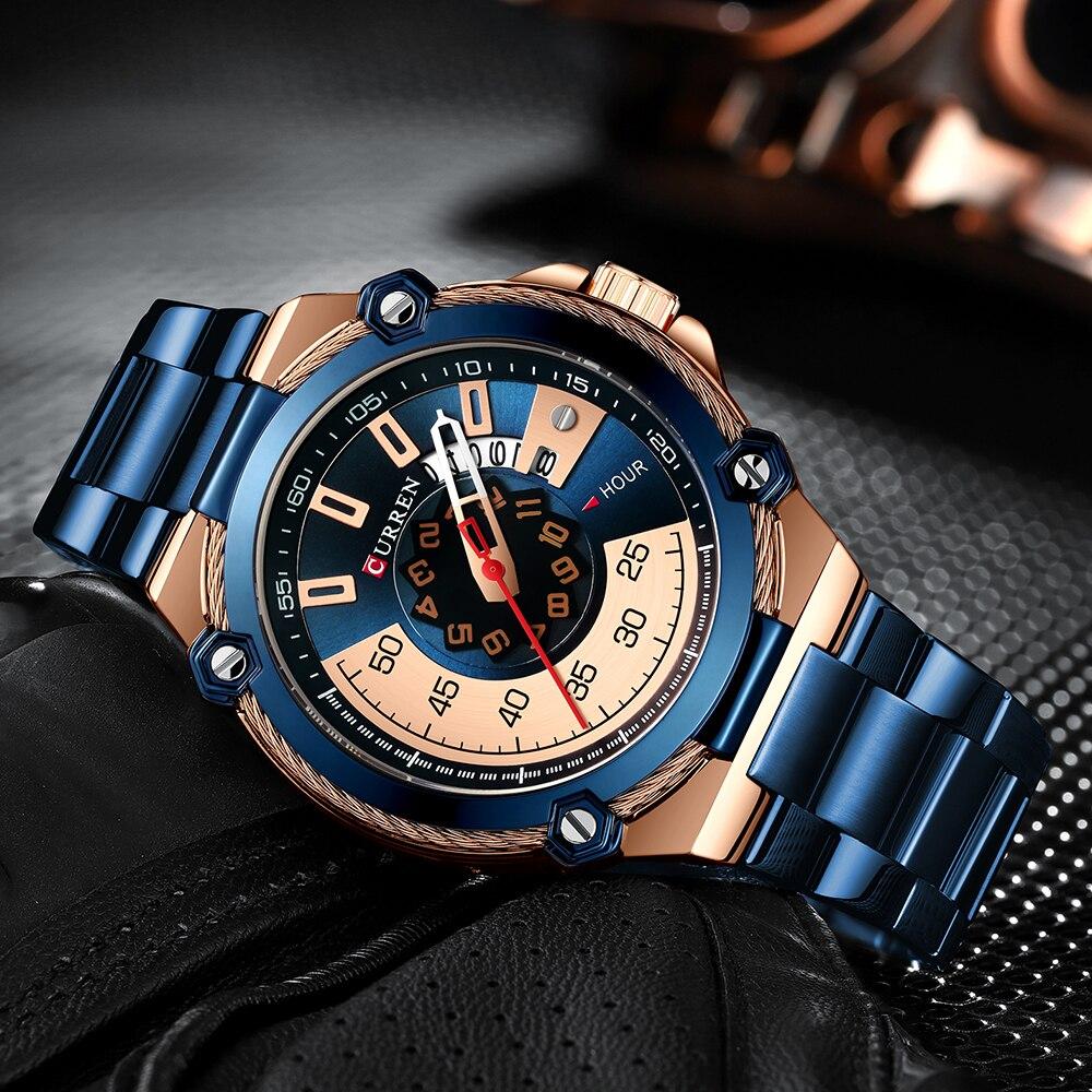 Image 2 - CURREN Design Watches Mens Watch Quartz Clock Male Fashion Stainless Steel Wristwatch with Auto Date Causal Business New WatchQuartz Watches   -
