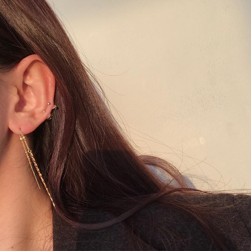 New Korean Luxury Full Sequin Chain Long Tassel Drop Earrings For Women Ear Ring Girls Fashion Party Elegant Pendientes Gifts