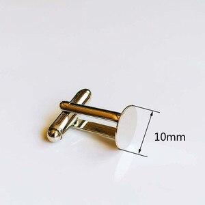 10 шт. 10 мм белый k цвет покрытием набор запонок база камея из кабошона высокого качества ювелирных изделий поиск компонентов