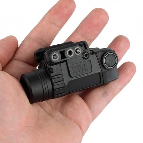 gun luz picatinny railed glock pistola airsoft laser lanterna