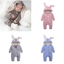 Newborn Rompers Jumpsuit Infant Clothing Bunny Baby-Girls Winter Autumn for Cute Ear