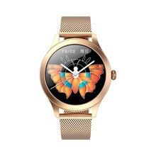 Relógio inteligente kw10 pro tela de toque completa ip68 à prova dip68 água feminino sycle fisiológico lembrete smartwatch para huawei xiaomi iphone