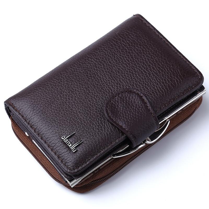 Fashion Women Wallets Cow Genuine Leather Female Coin Purse Nubuck Card Holder Cowhide Leather Wallet Women Small Zipper Wallet