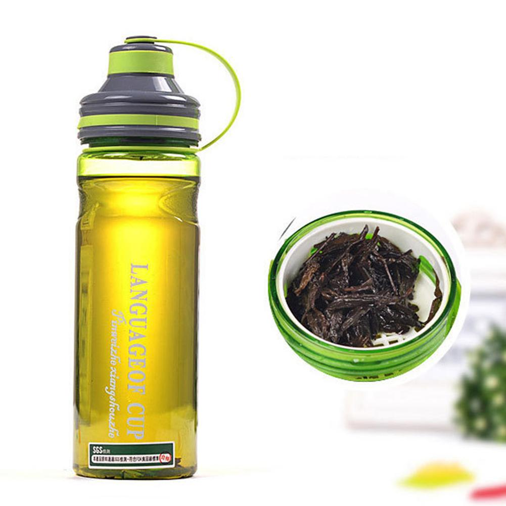 600ML 800ML 1L Sports Water Bottles Leak-proof Seal Nozzle Water Bottle With Cover, Lip Filter BPA Free Tea Cup Mug Space Shaker