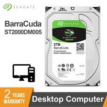 Seagate-disque dur interne HDD de 3.5 pouces, BarraCuda, pour ordinateur de bureau, ST2000DM005, avec capacité de 2 to, sata 3, 5400RPM, 6 Gb/s