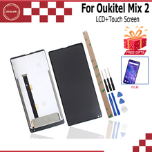 Ocolor para oukitel mix 2 mix 2 4g display lcd e digitador da tela de toque para oukitel mix 2 mix 2 4g + ferramentas adesivo filme