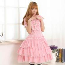 Princesse douce lolita robe rose adorable robe japonaise princesse douce soeur robe de bal robe de gâteau mode femmes GZWY161(China)