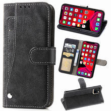 Leather Flip Cover Wallet Case For Apple iPhone 11 Pro Max XI 2019 6 6s 7 8 Plus 10 X XS Max XR Xsmax iPhonex iPhone11 Cases iphone case for iphone x xs xr xs max 8 7 6 6s plus iphone11 iphone11 pro iphone 11 pro max luxury square soft leather kickstand