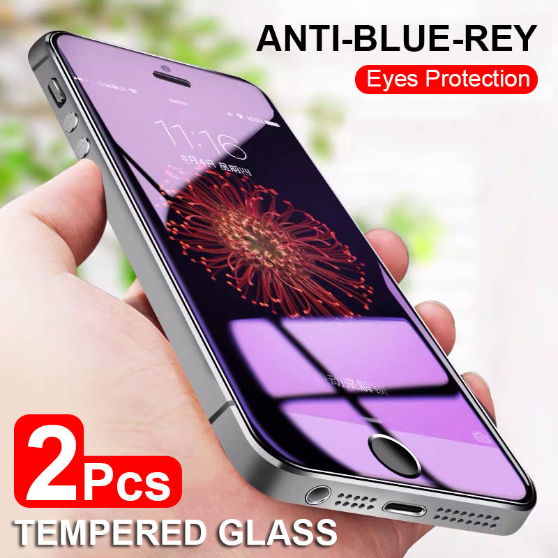 Anti Blue Ray Protective Tempered Glass On The For Iphone Se 5s 5 Screen Protector Tempered Film Glass For Iphone 5 5s 5c 4.0