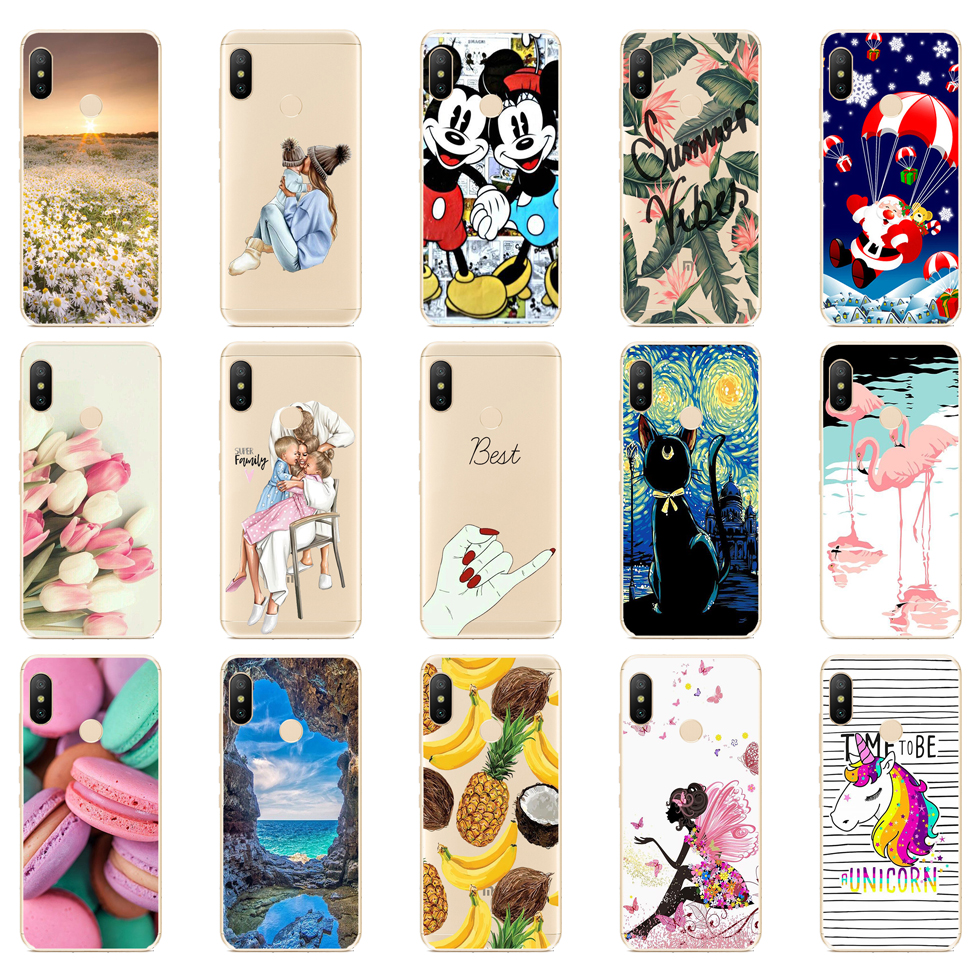 silicone Cover For Xiaomi MI A2 LITE Case Full Protection Soft tpu Back Cover Phone Cases For Xiomi MI A2 LITE bumper Coque