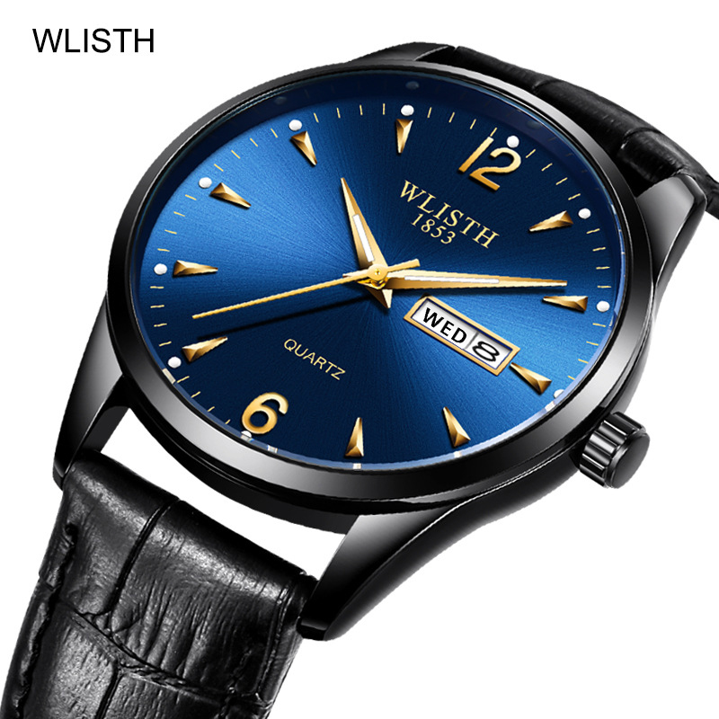 Brand Military Fashion Men Watches Luxury Leather Band Date Analog Week Luminous Quartz Men's Wrist Watches Relogio Masculino