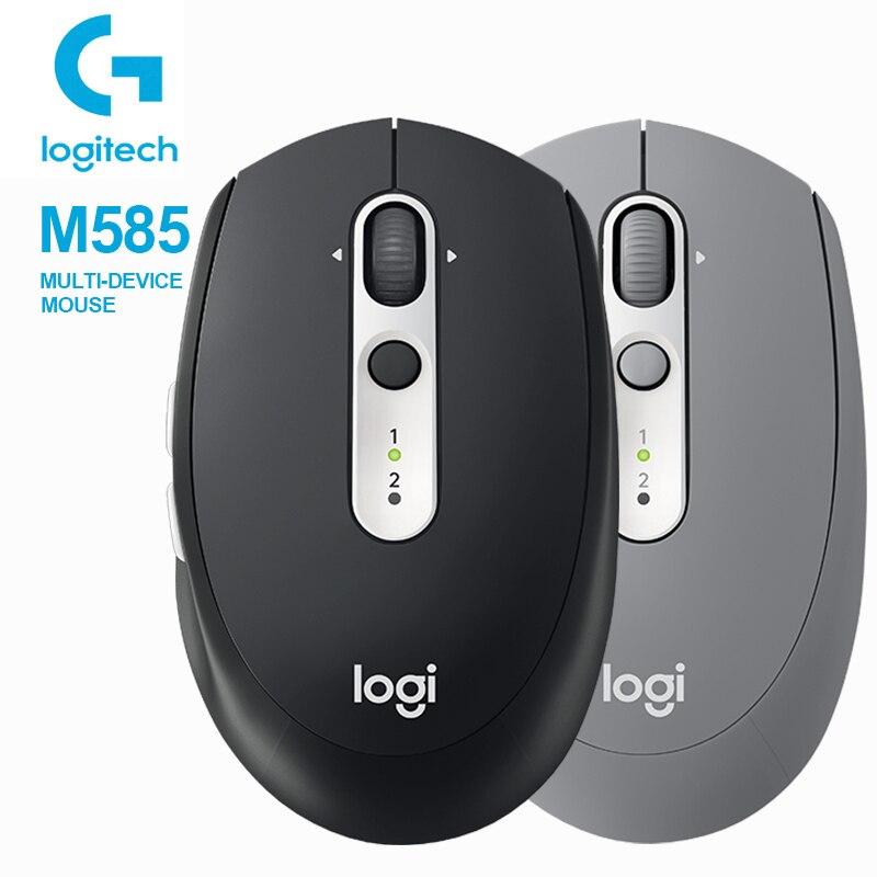 Logitech M585 MULTI-DEVICE Multi-Tasking Mouse Logitech Flow Curved Design Ultra-Precise Scrolling Mice For Windows Mac OS