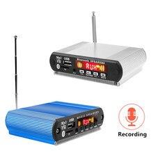 Reproductor MP3 con Bluetooth, placa decodificadora de MP3, accesorio para coche WMA con función de grabación, compatible con módulo de Audio USB/SD/FM