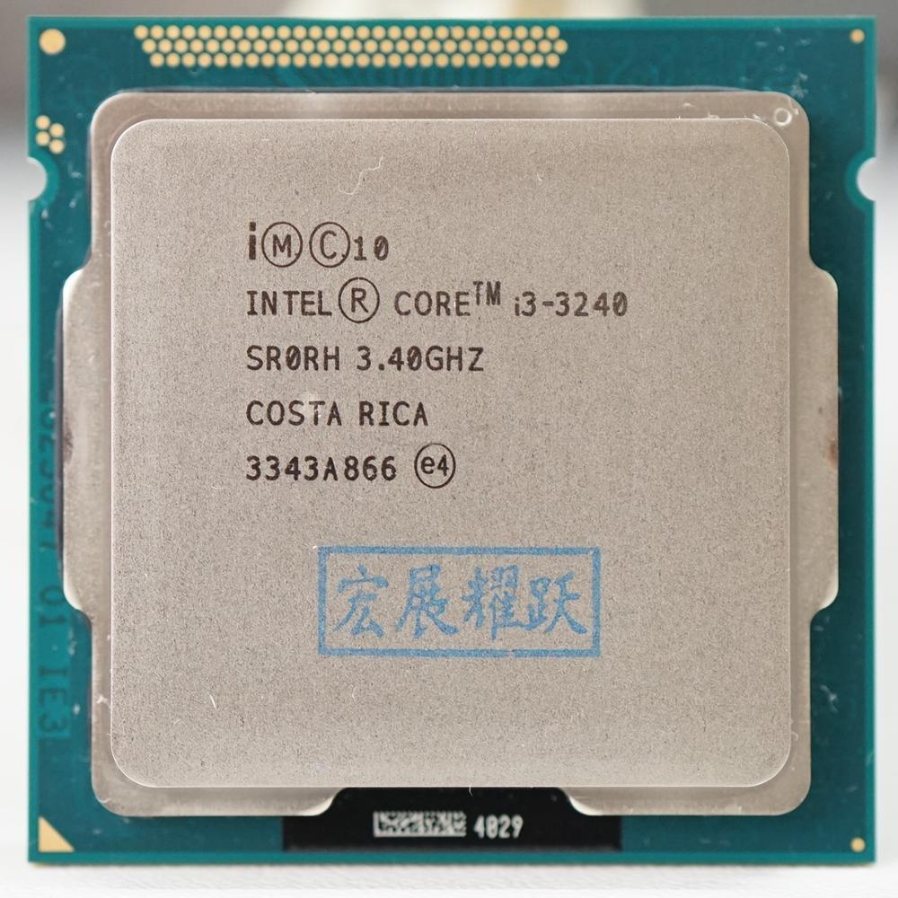 Pc bilgisayar Intel Core i3-3240 i3 3240 İşlemci (3m önbellek, 3.40 GHz) LGA1155 masaüstü işlemci