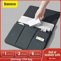Baseus Laptop Sleeve Tasche Notebook Tasche Fall Abdeckung Für Macbook Air Pro 13 16 Fall Laptop für iPad Pro Air wasserdichte Hülle