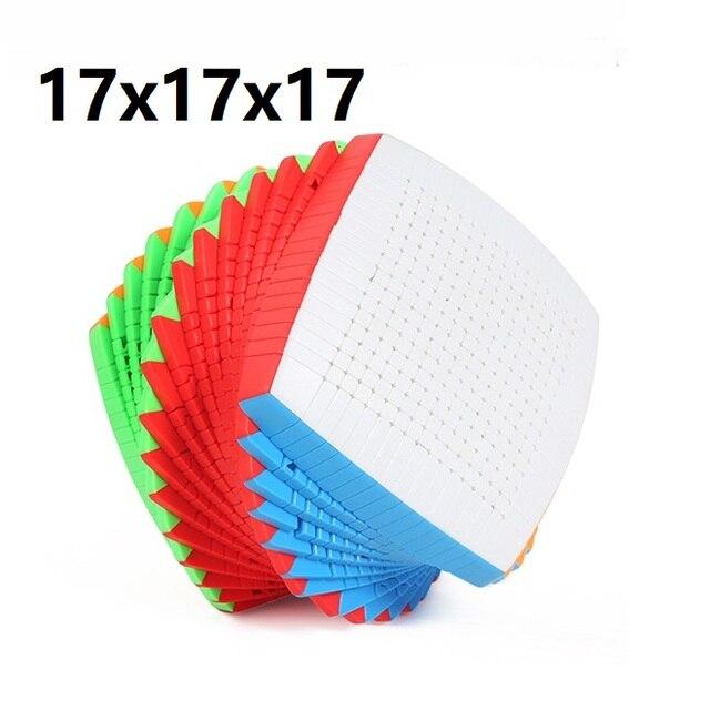 Shengshou Cubo de velocidad mágica Twist de 17x17x17 de 123mm, juguete educativo de aprendizaje para niños, Cubo mágico de 17x17